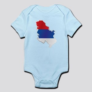 National territory and flag Serbia Body Suit