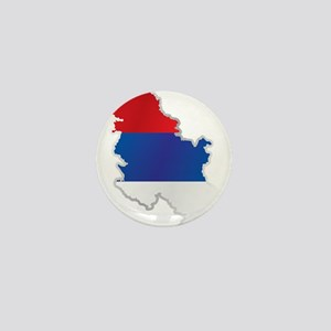 National territory and flag Serbia Mini Button