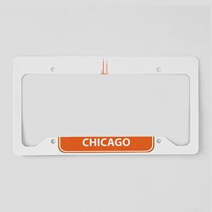 National landmark Chicago sil License Plate Holder