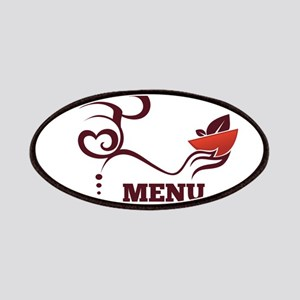 Creative chef menu logo Patch