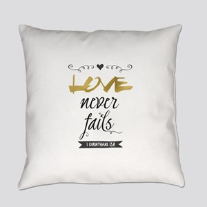Love Never Fails Everyday Pillow