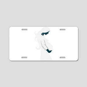 Pregnancy abstract art Aluminum License Plate