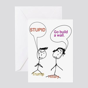 Trump and Hillary Greeting Cards