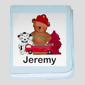 Jeremy's Fire Bear baby blanket