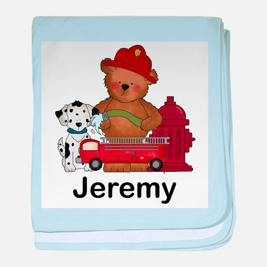 Jeremy's Fire Bear baby blanket