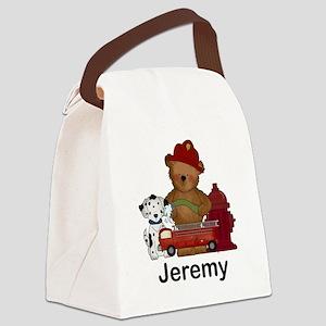 Jeremy's Fire Bear Canvas Lunch Bag