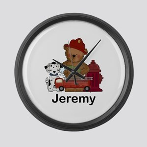 Jeremy's Fire Bear Large Wall Clock