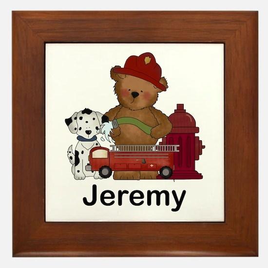 Jeremy's Fire Bear Framed Tile