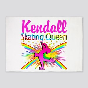 SKATING QUEEN 5'x7'Area Rug