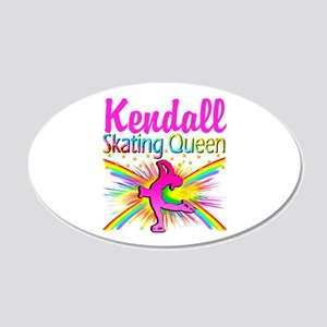 SKATING QUEEN 20x12 Oval Wall Decal