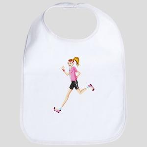 Running sport girl Bib