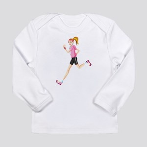 Running sport girl Long Sleeve T-Shirt