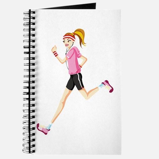 Running sport girl Journal