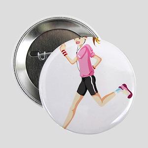 """Running sport girl 2.25"""" Button"""