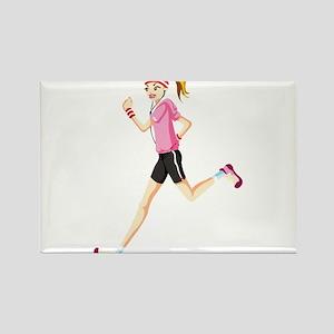 Running sport girl Magnets