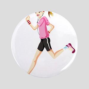 Running sport girl Button