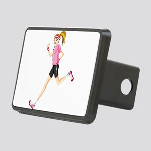 Running sport girl Rectangular Hitch Cover