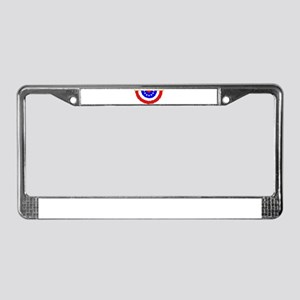 Stars and Stripes Bunting License Plate Frame