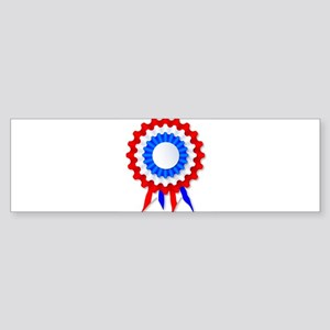 Red White and Blue Rosette Bumper Sticker