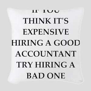 accountant Woven Throw Pillow