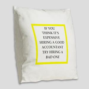 accountant Burlap Throw Pillow