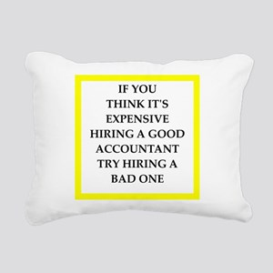 accountant Rectangular Canvas Pillow