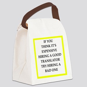 translator Canvas Lunch Bag