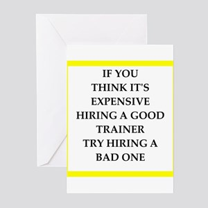 trainer Greeting Cards