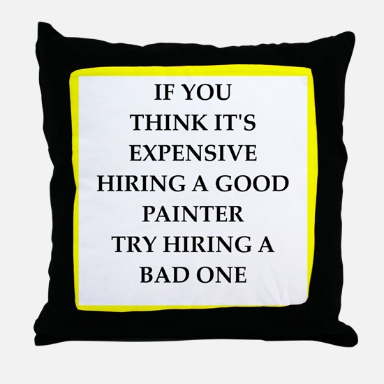 quality joke Throw Pillow