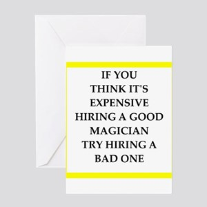 magician Greeting Cards