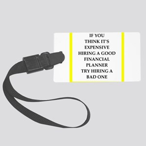 financial planner Luggage Tag