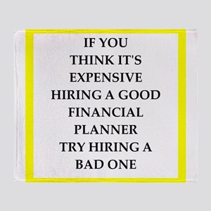 financial planner Throw Blanket