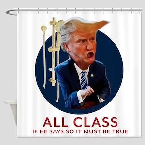 Trump - All Class Golden Shower Shower Curtain