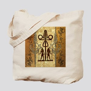 Egypt sign with floral elements Tote Bag
