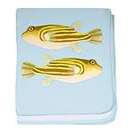 Nile Puffer fish baby blanket