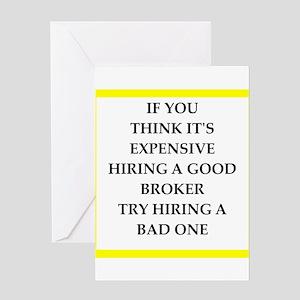 broker Greeting Cards