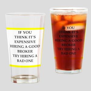 broker Drinking Glass
