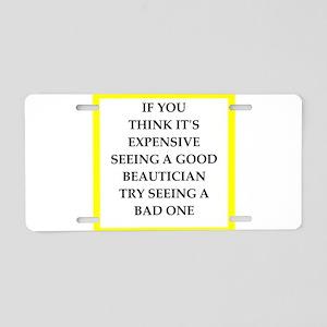beautician Aluminum License Plate