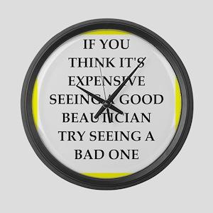 beautician Large Wall Clock