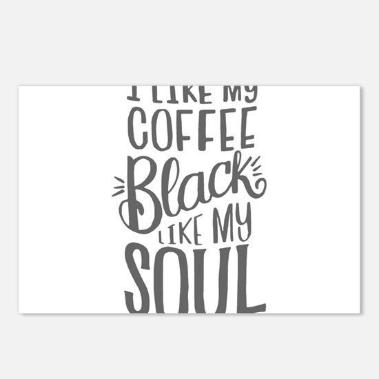 black coffee - 2 Postcards (Package of 8)