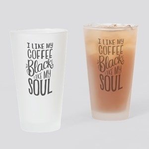 black coffee - 2 Drinking Glass