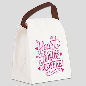 heart hustle COFFEE Canvas Lunch Bag