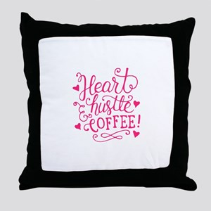 heart hustle COFFEE Throw Pillow