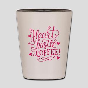 heart hustle COFFEE Shot Glass