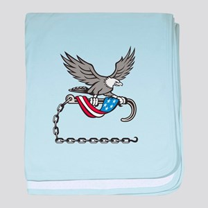 American Eagle Clutching Towing J Hook Flag Drape