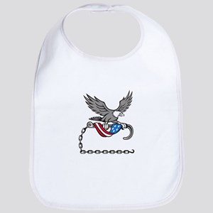 American Eagle Clutching Towing J Hook Flag Drape