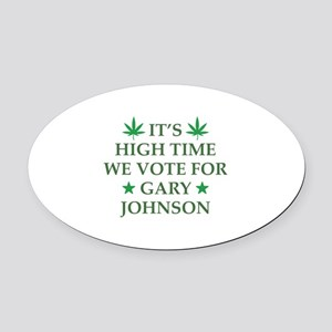 High Time We Vote Oval Car Magnet