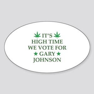 High Time We Vote Sticker (Oval)