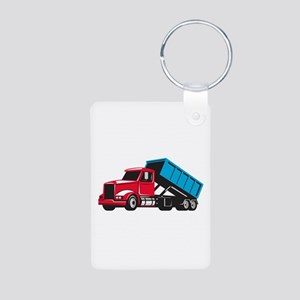 Roll-Off Truck Side Up Retro Keychains