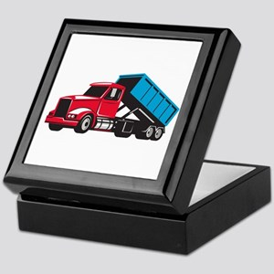 Roll-Off Truck Side Up Retro Keepsake Box